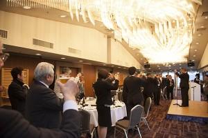 松山市水産仲卸協同組合宮本理事長より乾杯のご発声